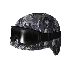 Blue Camo Tactical Helmet w-Goggles